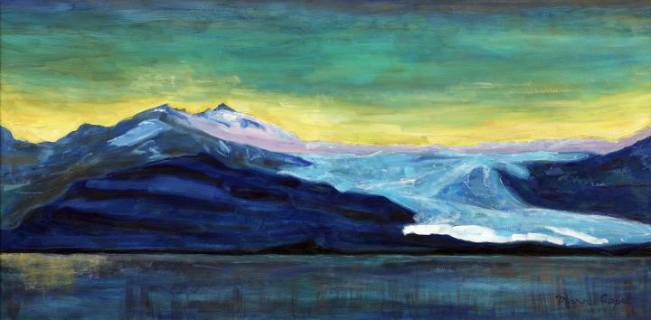 Sunset Icelandic Glacier
